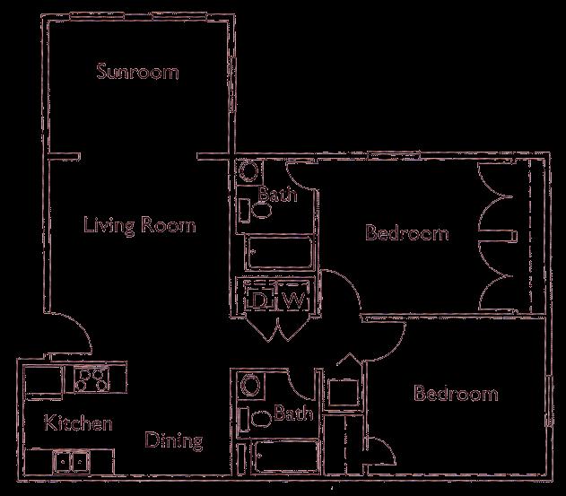 Park Crossing Rutherford NC 2 bedroom floorplan